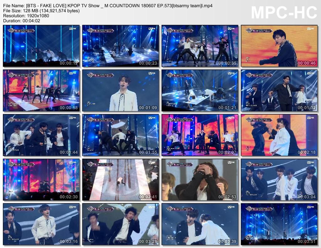 voqk [bts   fake love] kpop tv show m countdown 180607 ep.573[btsarmy team]l.mp4 thumbs - Video] BTS at Mnet Mcountdown [180607] #FakeLove9thWin]